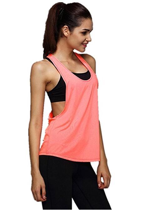 Activewear тренировки бег трусцой Спорт Tank Top женщин Длинные впитывать влагу дышащий жилет с капюшоном, NE-481