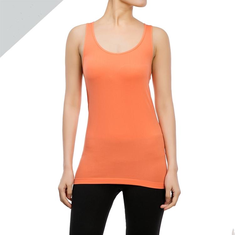 Горячие продукты йога оранжевый бесшовных майка производитель спортивной одежды