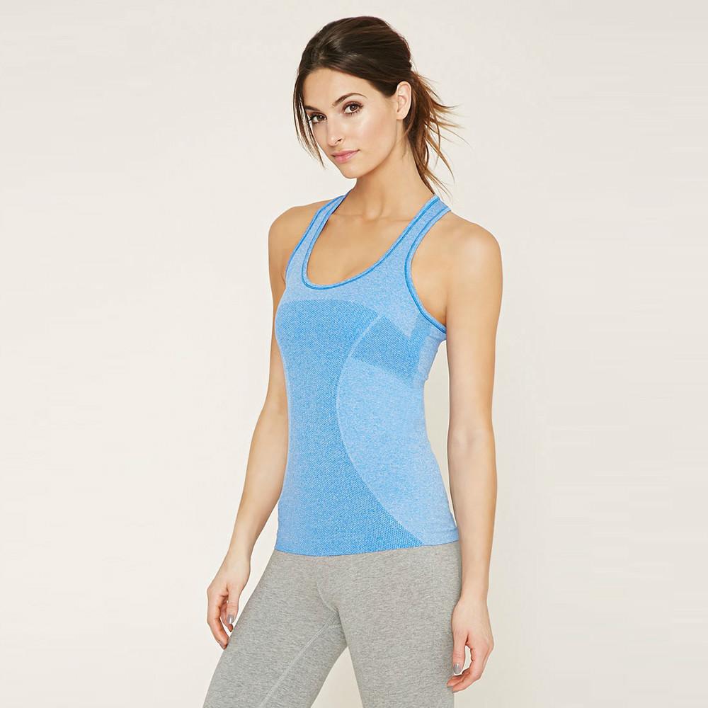 Последние дизайны Активной одежды женщины оптовой Бесшовная Yoga Tank Top Спорт Vest