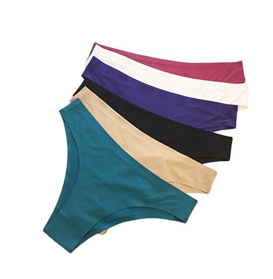 Бесшовное белье Невидимые трусики бикини для женщин Half Назад Покрытие обновления