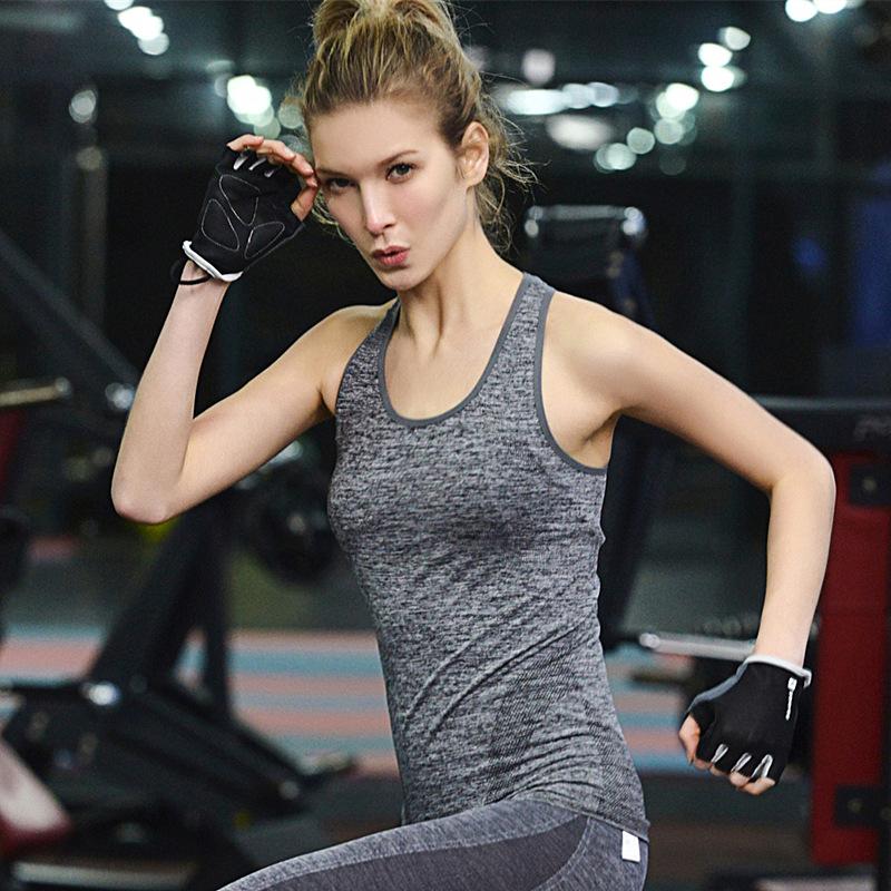 Оптовая фитнес высокого упругих йог кроссовок спортивного топ жилет