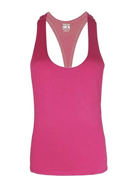 Женщины Фитнес Спорт Tank Top Бесшовная Блуза Stretch Vest Gym быстрой сухой рубашки