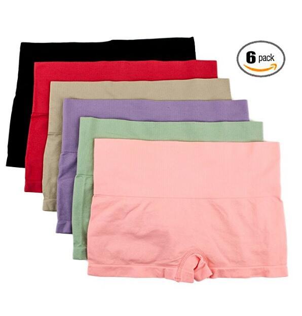 Для женщин 6 Pack Бесшовные Stretch Comfort Boy шорты Трусы