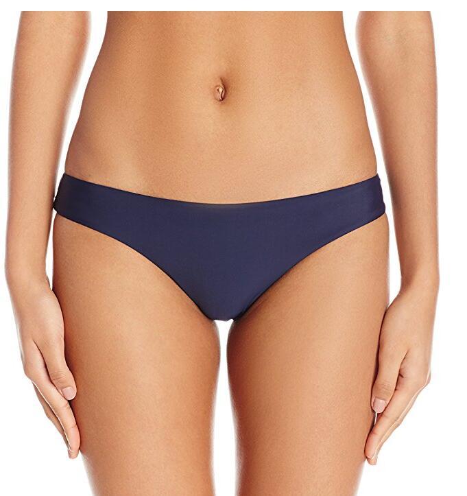 Для женщин Основные Ruched Бесшовные Полный Bikini Bottom