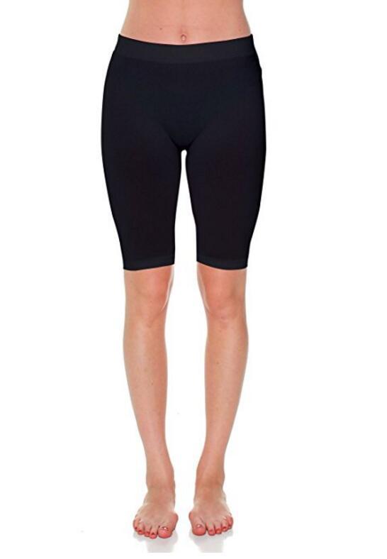 Женская Capri 17 в колено Длина Бесшовные леггинсы Regular и Plus Size
