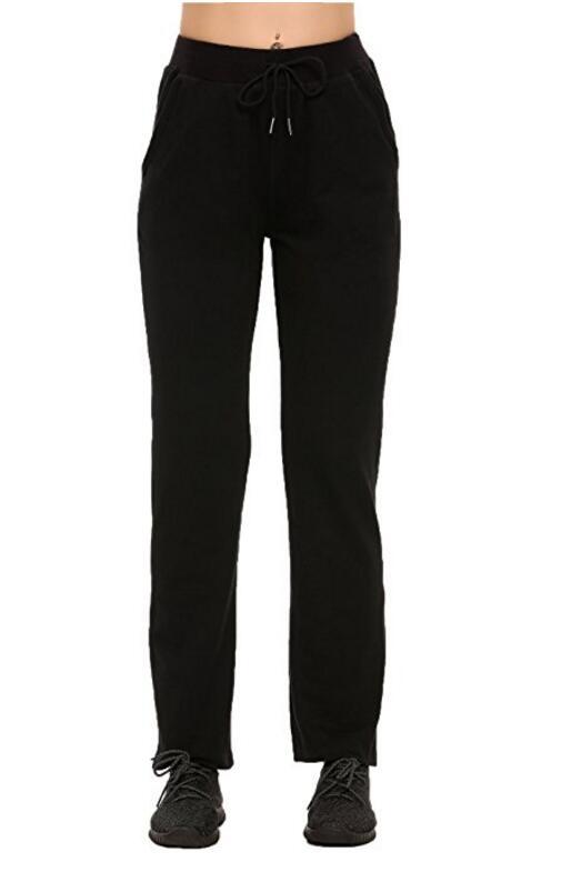 Женская повседневная Stretch кулиской Jogger лодыжке брюки Длина Sweatpants, NE-375