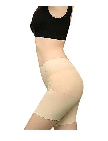 Женская Хлопок безопасности Шорты Облегченно Fit Бесшовная Boyshort высокой талией на резинке три штаны