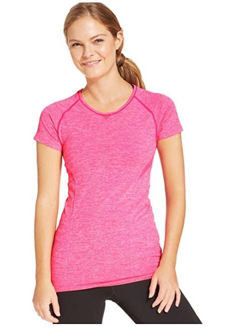 Женская Crew-Neck Tee Бесшовная Top Shirt, NE-458