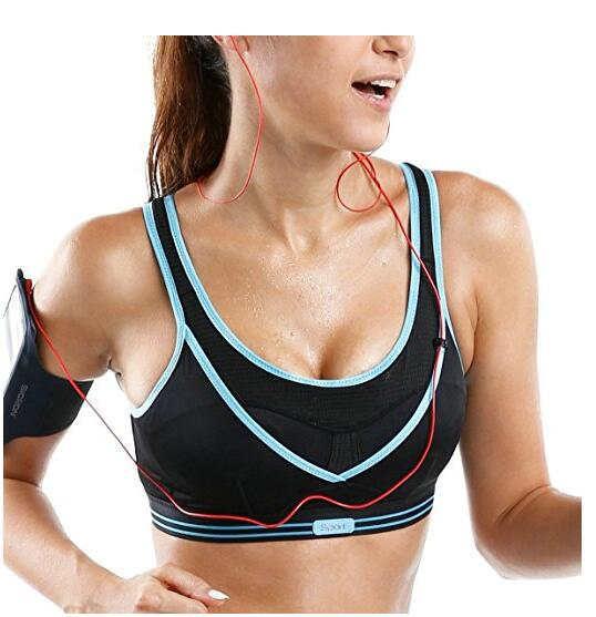 Womens High Impact Wire Gratis Non Padded vrije schouders Gym Active Sports Bra