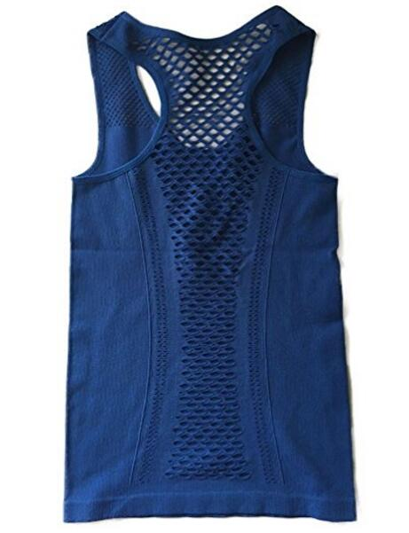 Женская Hollow Cross Quick Dry Yoga Vest Tank Tops Для Gym Беговая Бег