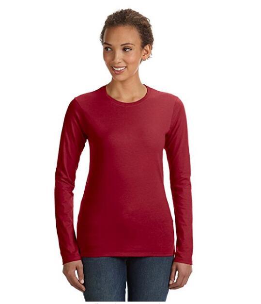 Женская Легкий Юниор Fit с длинными рукавами футболки