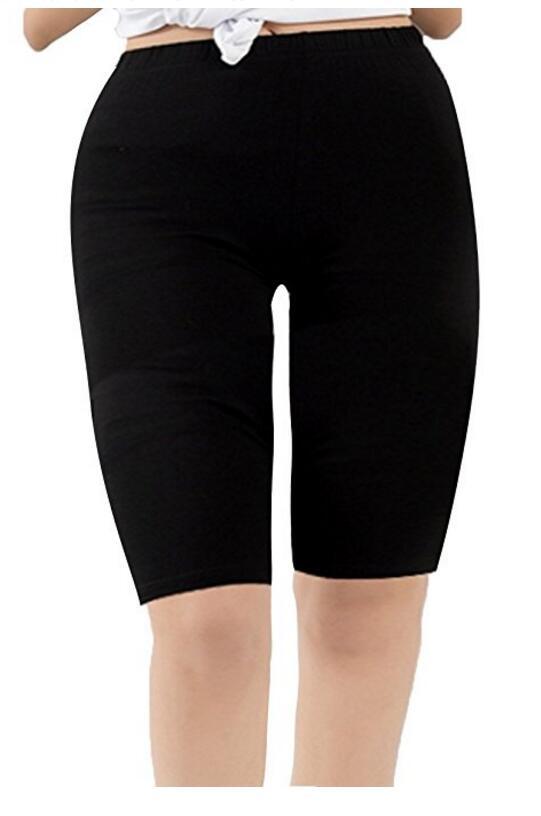 Женская Модальные над коленом Длина Гладкие Короткие Плюс Размер Спорт поножи
