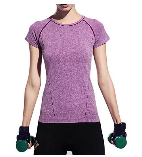 Для женщин Quick Dry Тонкий Спорт футболки Training Top, NE-438
