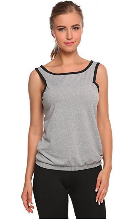 Для женщин вокруг шеи Обрезанные Racerback Tank Tops Running Vest