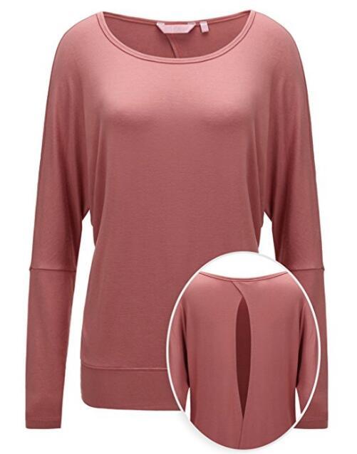 Для женщин вокруг шеи вискозы Span Эластичных ткани и проветривать Активный Top с задней точкой, NE-169