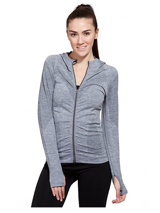Куртка женская Бесшовная Compression с капюшоном с длинным рукавом