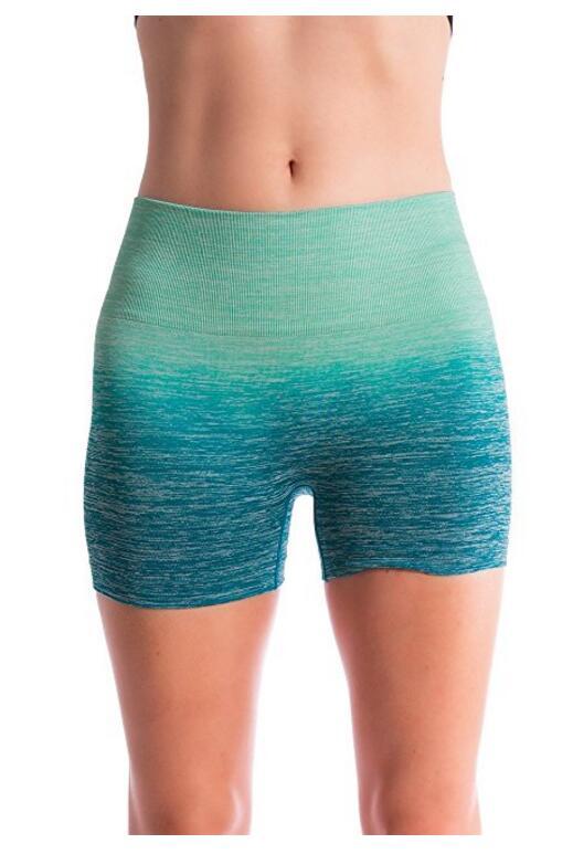 Для женщин Бесшовные Компрессионные йоги Шорты Идущие шорты Slim Fit, NE-363