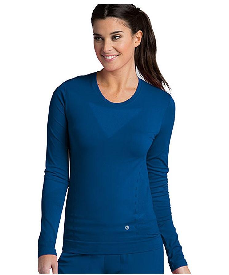 Для женщин Бесшовные с длинным рукавом Underscrub Tee Shirt