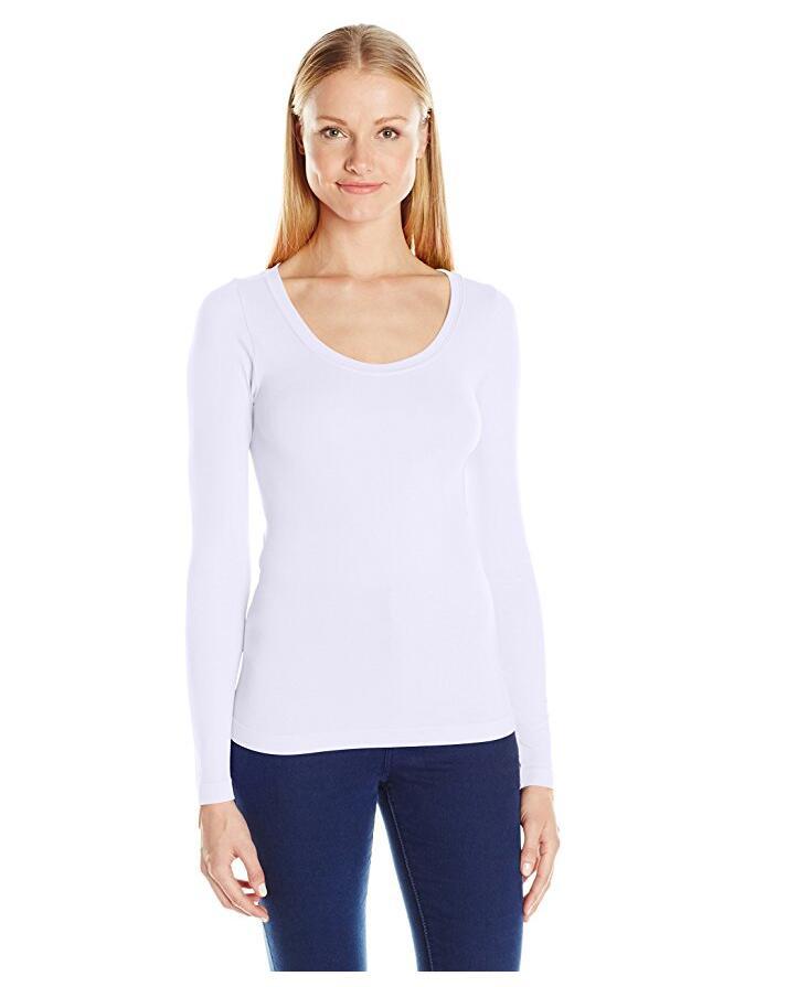 Для женщин Бесшовной шеи длинного рукава, NE-394