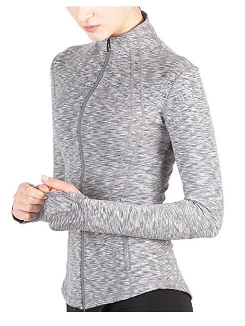 Женская куртка спорта Определение Slim Fit и пушистого-Soft Handfeel