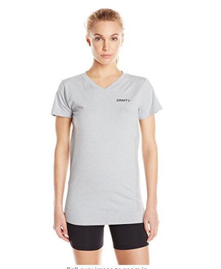 Для женщин V-образным вырезом Бесшовные футболки