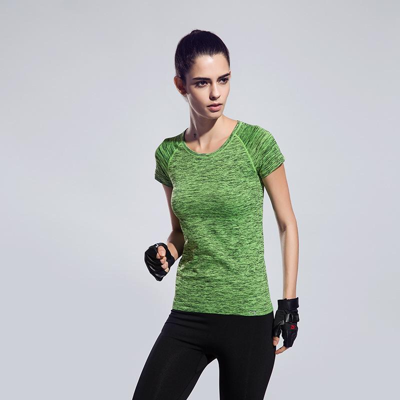 Йога Фитнес спортивной бесшовные футболки для женщин