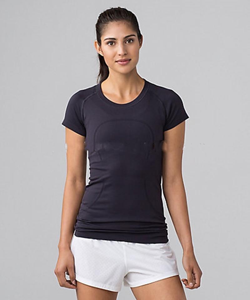 женщины бесшовная спорта короткий рукав футболки