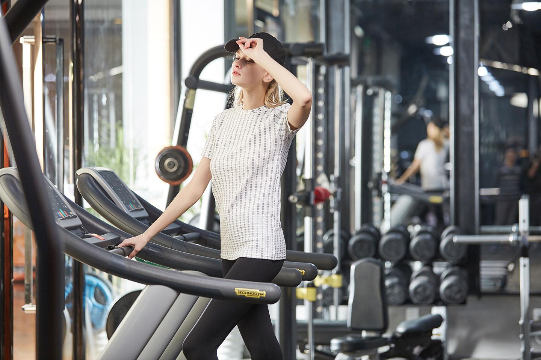 Женский удобная йога носить футболки бежать бесшовный износ, NE298-S-1018