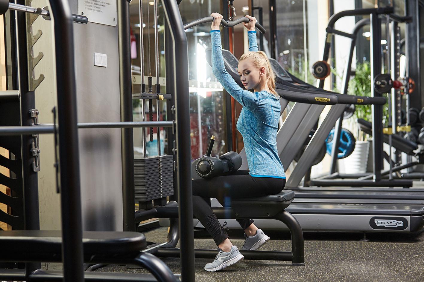 Длинные рукава женщины спортивная одежда profn спортивные рубашки, NE298-S-1024