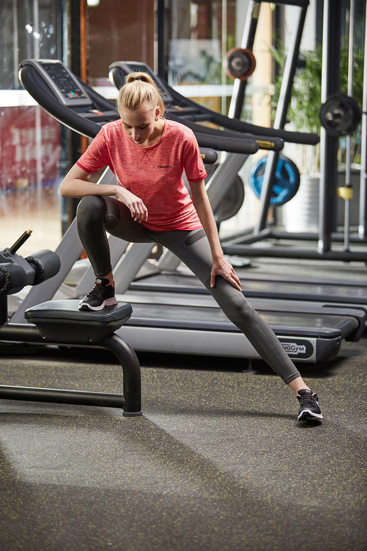 Женщины тренировки футболки Бесшовные Activewear, NE298-S-1028