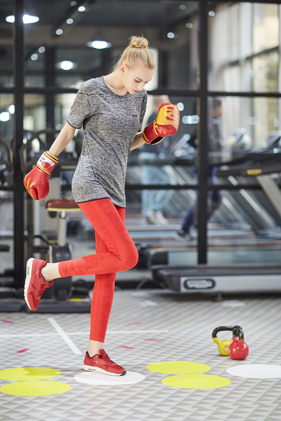 Женщина Fit Спортивная одежда Фитнес-центр Носить футболку, NE298-S-1033